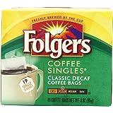 Folgers Classic Medium Roast Decaf Coffee, 19 Count Singles Serve (Pack of 6)