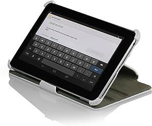 StilGut UltraSlim Case (V2), esclusiva custodia per Google Asus Nexus 7 (8 & 16GB) con funzione stand-up e funzione on/off, bianco