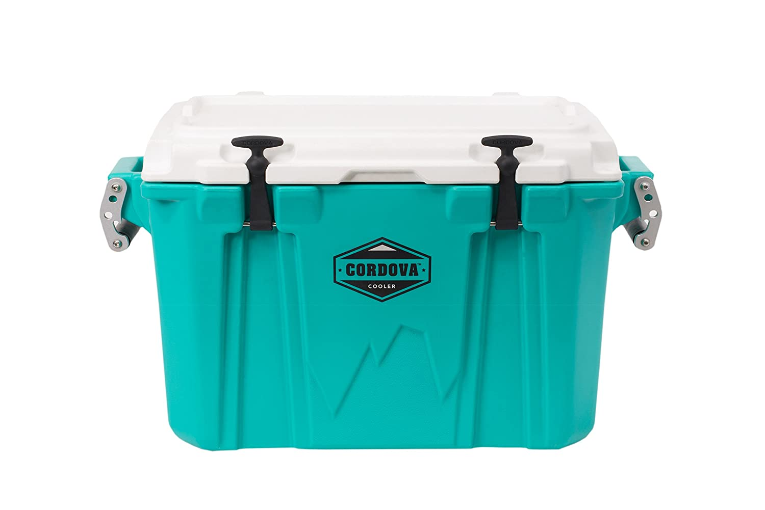 Cordova 50 Medium Cooler - Hard Sided Rotomolded Ice Chest with 48 Quart Capacity & Built in Bottle Opener