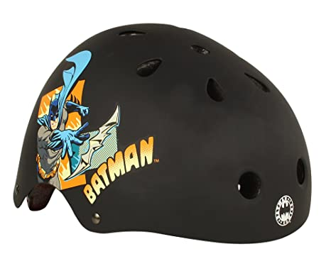 Batman Comic Capers - Casco de bicicleta para niño negro negro Talla:medium