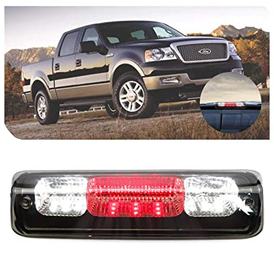for 2007-2010 Ford Explorer Sport 2004-2008 Ford F150 2006-2008 Lincoln Mark LT LED Bar 3rd Third Tail Brake Light Rear Cargo Lamp High Mount Stop light (Chrome Housing + Smoke Lens): Automotive