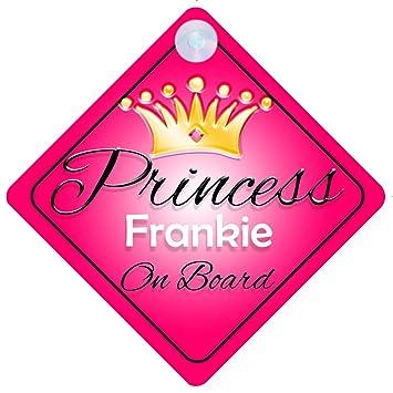 Crown Princess Frankie On Board Personalised Baby Girl Car Sign