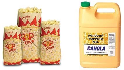 Amazon.com: Paragon bolsas de palomitas de maíz de papel ...