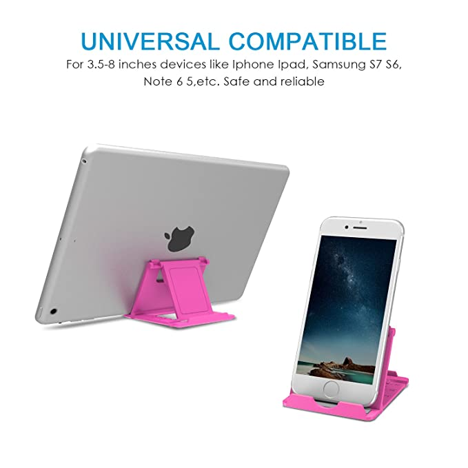 Amazon.com: Gruichi Cell Phone Stand, Multi-Angle Foldable Desktop Holder for Smartphones, Tablets (6-8 Inch) and E-Readers, iPad, iPhone 7 Plus/6s Plus, ...