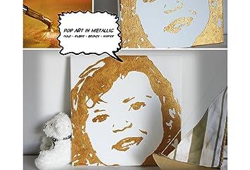 Paintoix Popart Kunstwerk Metallic Vom Foto Zum Selber Malen