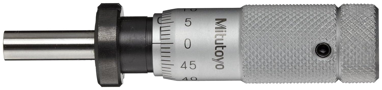 Flat Face Mitutoyo 148-508 Micrometer Head Zero-Adjustable Thimble -0.002mm Accuracy 0-13mm Range Plain Thimble Clamp Nut 0.01mm Graduation