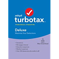 Deals on TurboTax Deluxe 2019 Tax Software