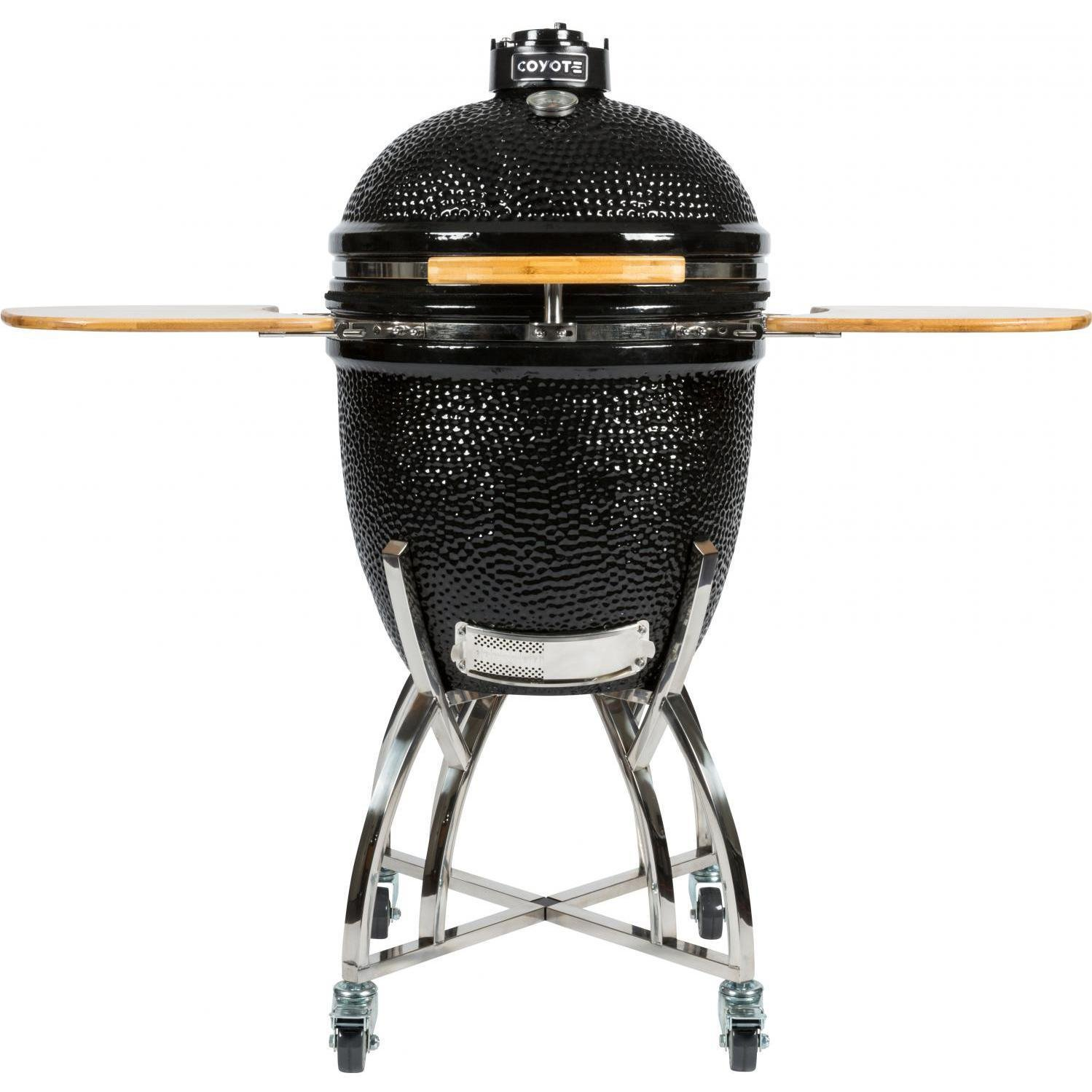 Coyote Black Stainless Steel Asado Ceramic Grill