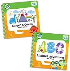 Leapfrog Leapstart Preschool Activity Book Bundle with ABC, Shapes and Colors, Level 1