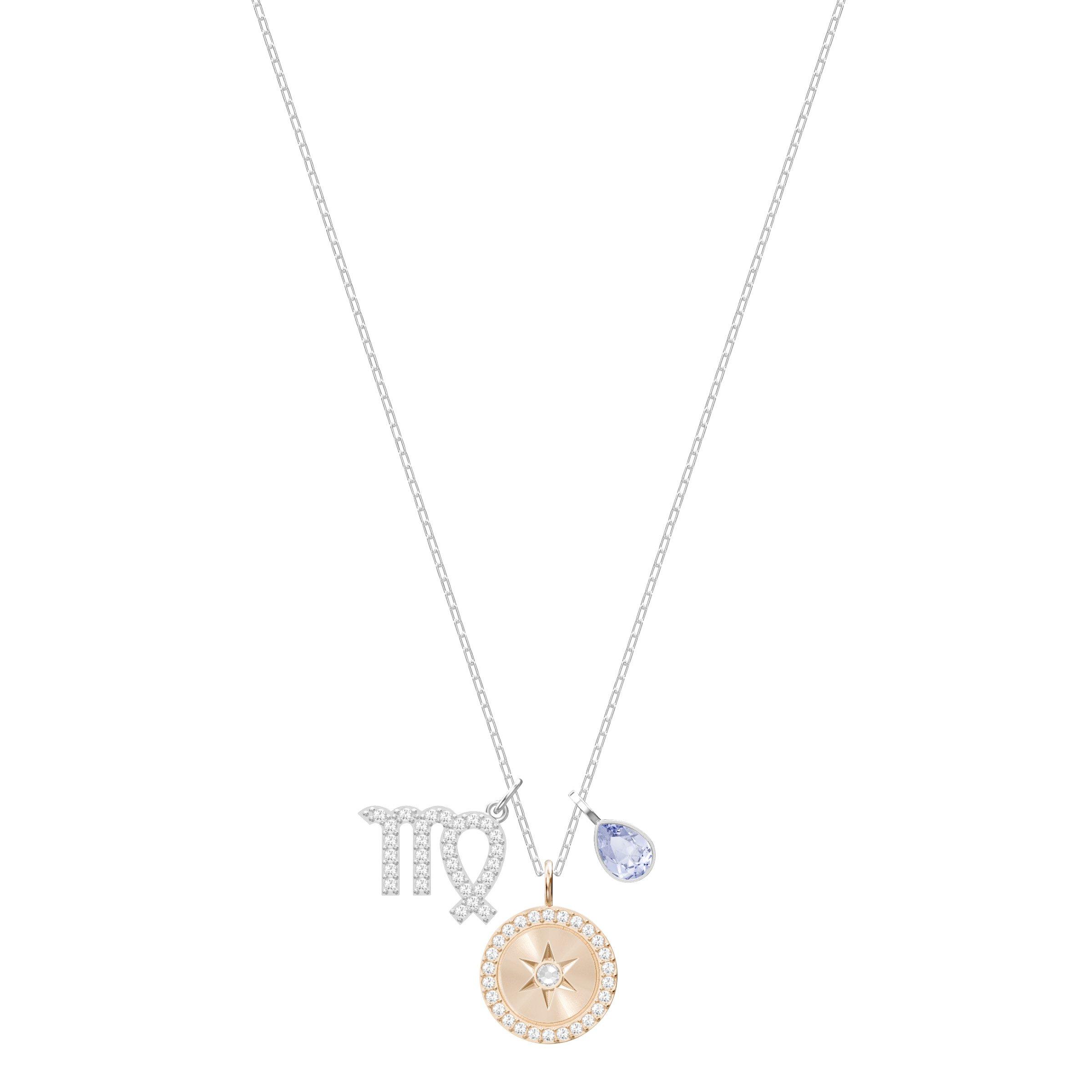 Swarovski Crystal Zodiac Virgo Pendant Necklace