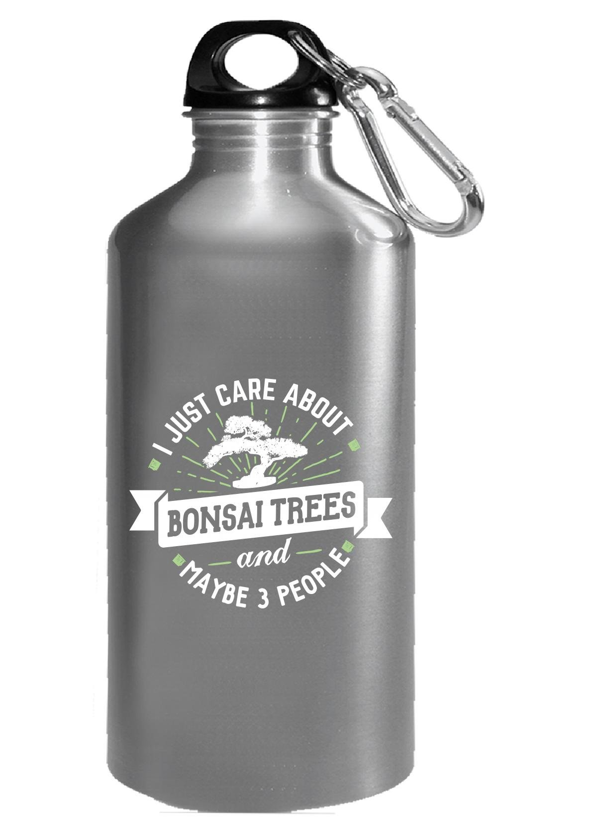 Funny Gift For Bonsai Trees Lovers I Just Care About - Water Bottle