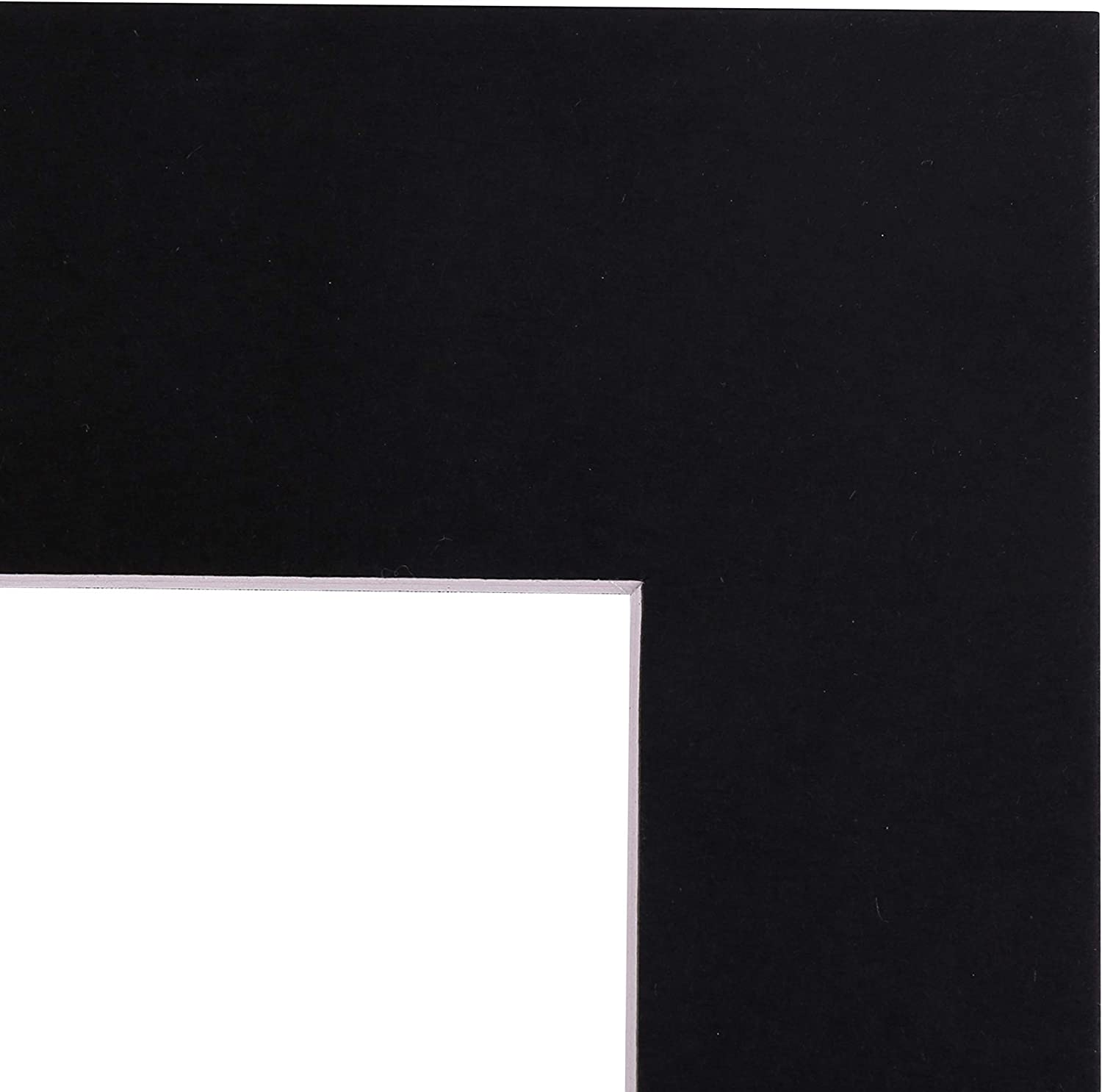 Art Emotion Brand of Pack of 20 Complete Black Mats Board Set Including Beveled Photo mats with White core /§ 20 pcs Size 5x7 Acid-Free re-Seal Crystal Bags Black Backing Boards