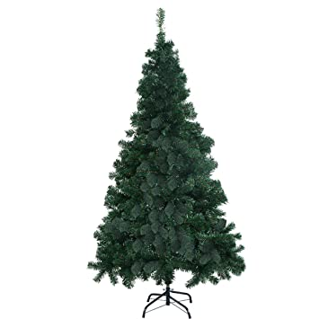 Amazon.com: Goplus 7' Artificial Christmas Tree Spruce Hinged w ...