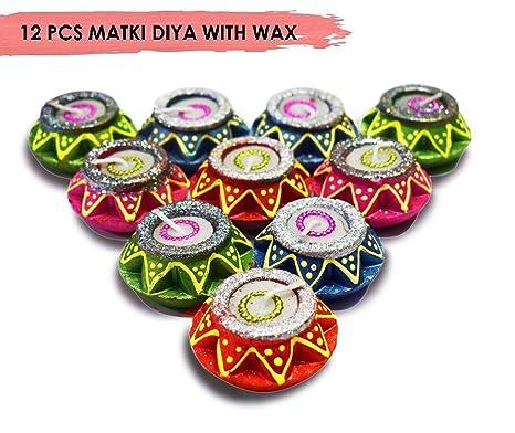 Amazon.com: Craftsman 12 piezas Diwali Diya Regalo ...