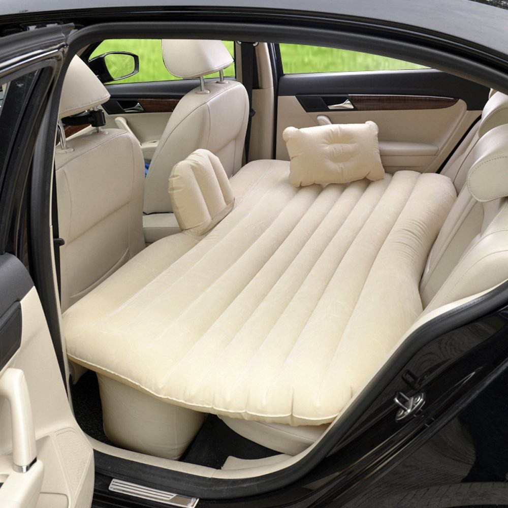 CDGroup Letto Gonfiabile Auto Materasso ad Aria Macchina Materassino Airbed Auto Esterni Che Gonfia materasso Materassino Sedile materasso per CAR SUV 140cm X 90cm, Grigio