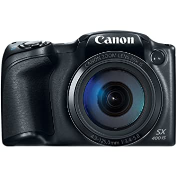 Canon PowerShot SX400 Digital Camera with 30x Optical Zoom (Black) (Discontinued by Manufacturer)