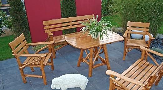 Mosel Madera – Muebles de Jardín Conjunto de jardín grupo Muebles para jardín (4 piezas): Amazon.es: Jardín