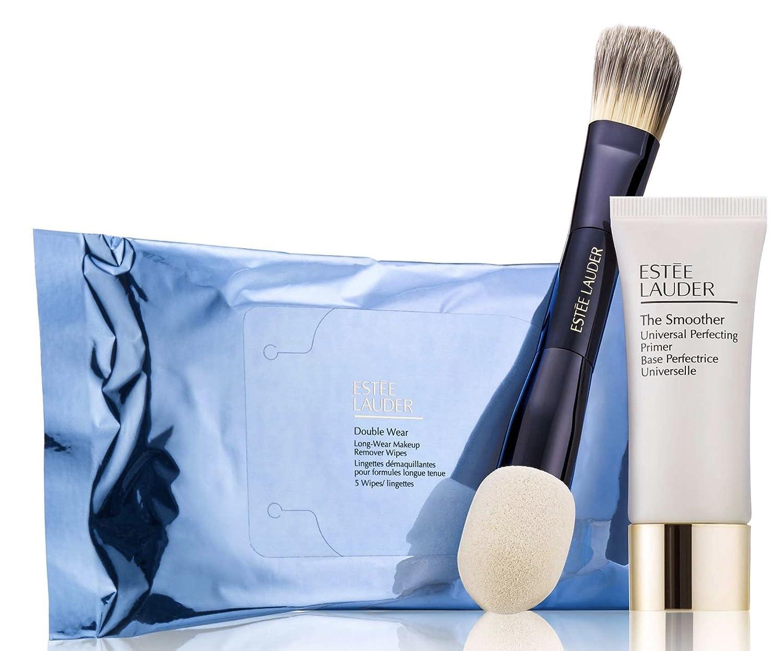 Estee Lauder Double Wear Makeup Kit (3 Piece Set), Perfecting Primer,  Foundation Brush