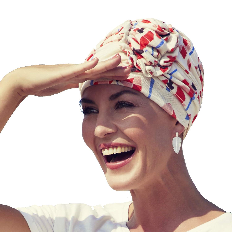 Christine headwear Turbante in Lino Ahava Fantasia Papaveri