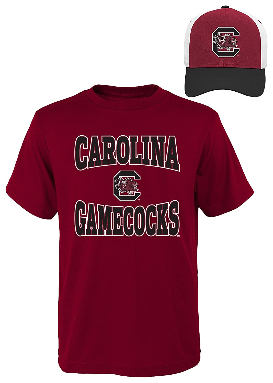 Assorted Colors Large NCAA South Carolina Fighting Gamecocks Youth Boys 8-20 Tee /& Hat Set 14-16