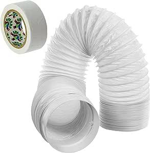 SPARES2GO Kit de extensi/ón de conducto de PVC para tubo de manguera para Haier Aire acondicionado 6m, 5 Pulgadas