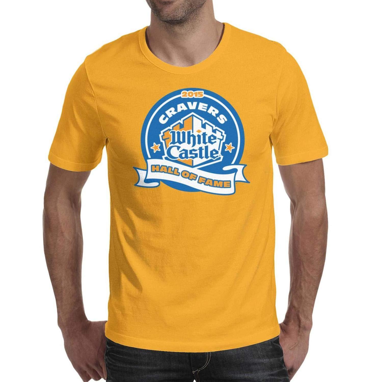 Castle Logo Short Sleeve T Shirts Loose Ness Comfy Shirt 9893