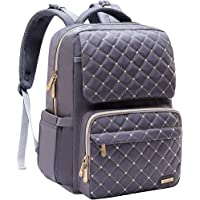 Diaper Bag Backpack, Bamomby Multi-Function Waterproof Large Travel Backpack Nappy Bags for Mom,Dad with Changing Pad, Newborn Diapers Registry Baby Shower Gifts for Boys,Girls-Grey