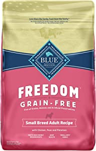 Blue Buffalo Freedom Grain Free Natural Adult Small Breed Dry Dog Food and Wet Dog Food, Chicken