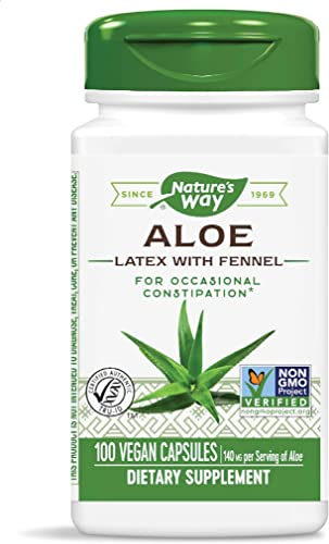 NATURES WAY ALOE LEAF LATEX 100VEGCP, 100 Ounce