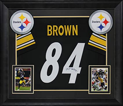 huge discount 03dd0 f2e66 Steelers Antonio Brown Authentic Signed & Framed Black ...