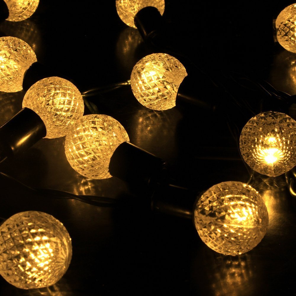 Amazon.com : E Light Warm White Globe String Lights Solar Powered 30 LED  Christmas Lights For Patio, Garden, Holiday, Party, Wedding : Garden U0026  Outdoor