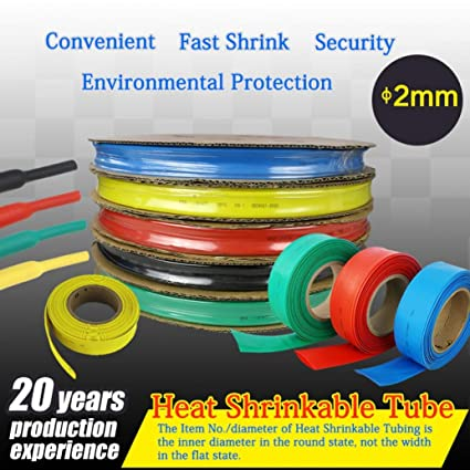 Amazon.com: 1Meter/Lot Cable Sleeves 2mm Heat Shrink Tube ... on