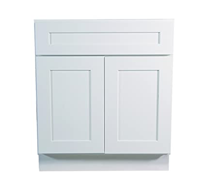 Design House 561373 Brookings 27 Inch Base Cabinet White Shaker