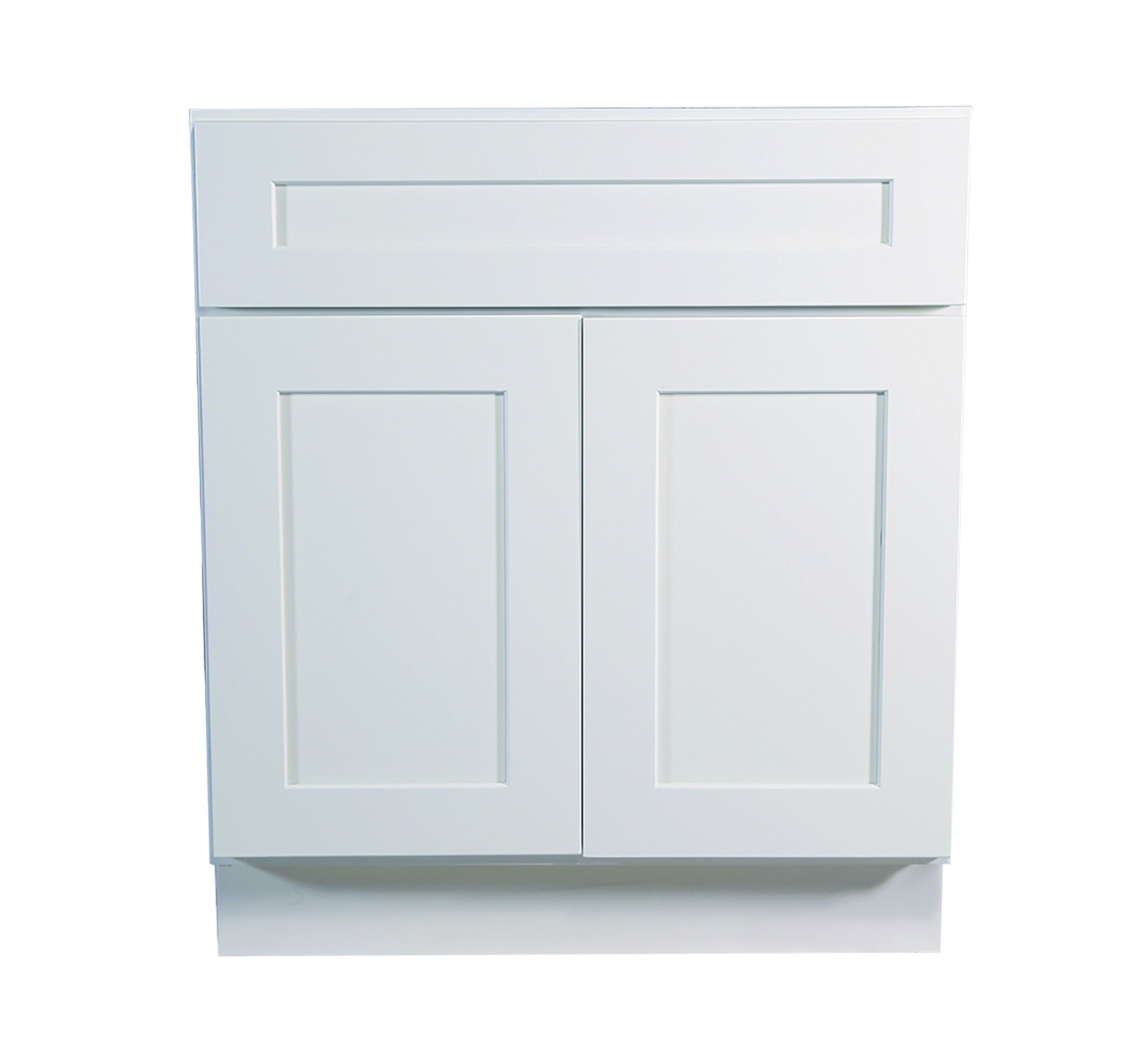Design House 561365 Brookings 24-Inch Base Cabinet, White Shaker by Design House
