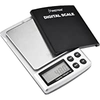 Insten Portable Digital Scale for Kitchen Jewelry Refined Accuracy 0.1g/0.005oz to 1000g/35.3 oz with Backlit Display, Silver