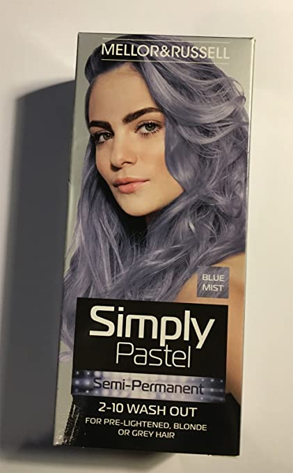 Simplemente Pastel Semi Permanente tinte de pelo – azul Mist ...