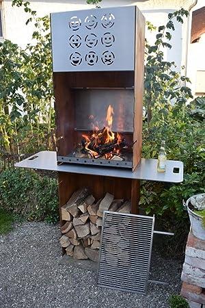 Acero Corten Acero exterior Barbacoa/chimenea para exteriores