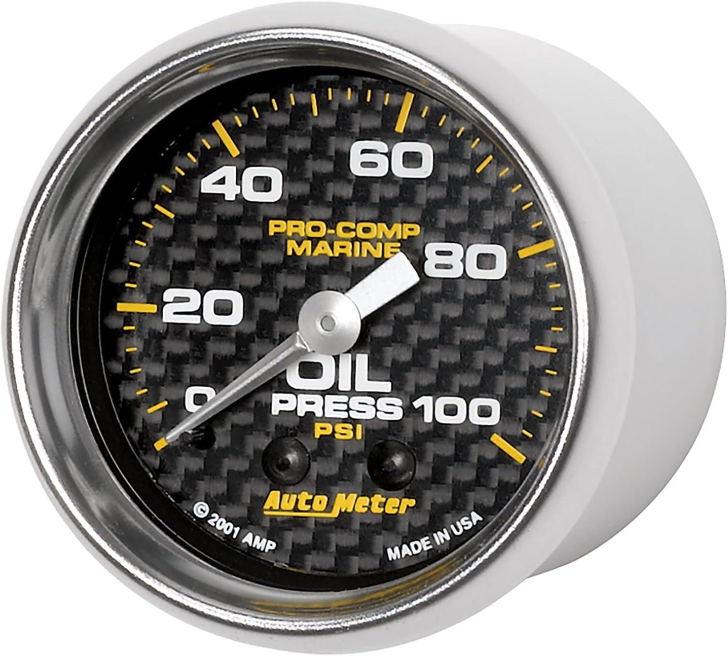 18V Electric AutoMeter Auto Meter 200756-40 Gauge Marine Carbon Fiber Voltmeter 2 1//16