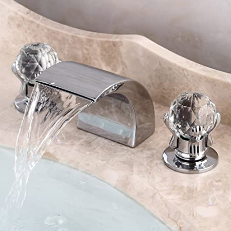 Kes Waterfall Deck Mount Tub Faucet Roman Tub Filler 2 Handle
