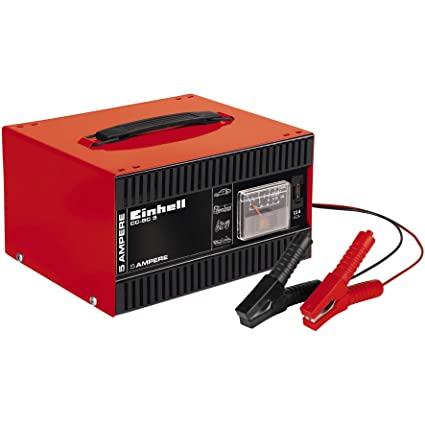 Einhell 1056121 Cargador de batería, Negro, Rojo: Amazon.es: Coche ...
