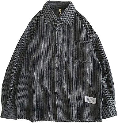 waotier Camisas Hombres Pana Camisas Otoño Color Liso Chaquetas Casual Botón Camisa Blusa Manga Larga Cazadora: Amazon.es: Ropa y accesorios