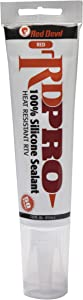 Red Devil 08290I RD PRO 100% Heat Resistant RTV Silicone Sealant, 2.8 oz. Tube, Red, 1 Pack