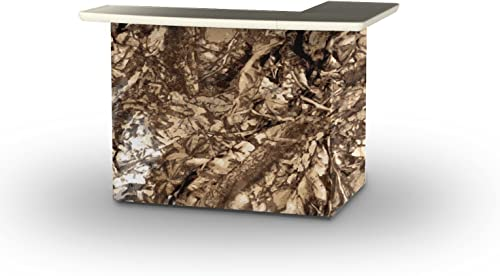 Best of Times 2000W1342 Camoflauge Portable Patio Bar Table, One Size, L-Shaped, Camouflage