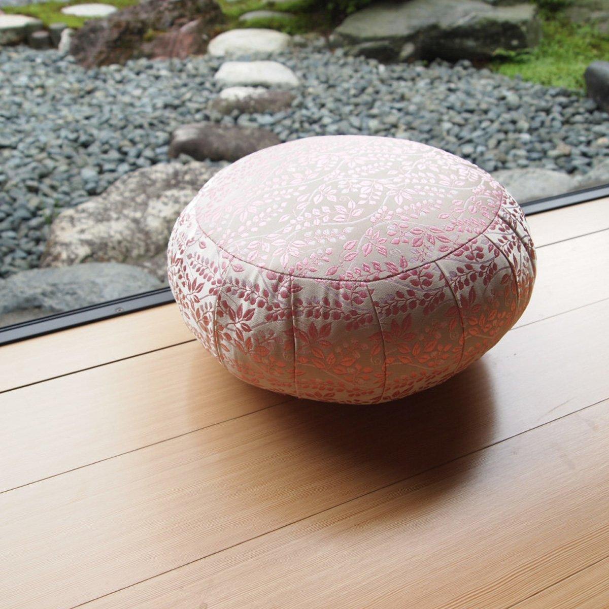 ヨガ座布団 yoga クッション(瞑想)座布座蒲座蒲座禅専用 座禅座布団 日本製 (33cm, ボタニカル ピンク) B074D53FN3 33cm|ボタニカル ピンク ボタニカル ピンク 33cm