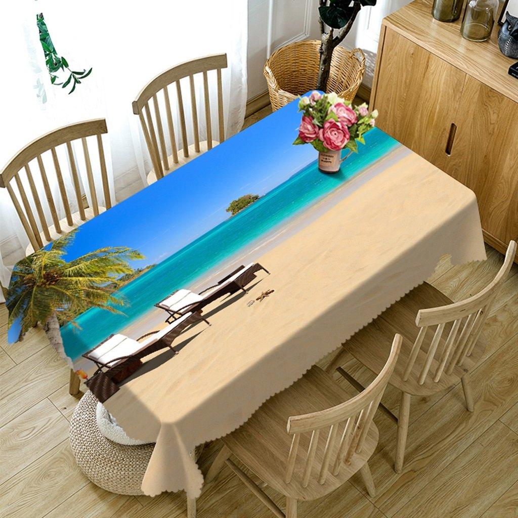 Ropa de Cocina Mantel Rectangular - Mantel Personalizado 3D PG01037 - Ambientalmente y sin Sabor - Impermeable de impresión Digital (Tamaño : Square -216cm216cm)