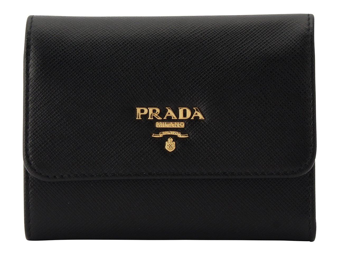 (プラダ) PRADA 財布 三つ折り レザー 1MH840 ブランド[並行輸入品] B075NCLHQM Nero Nero