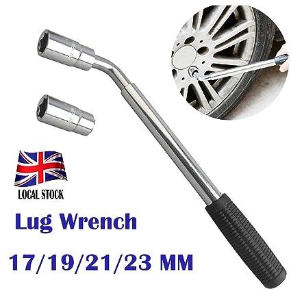 Llave de tuerca para rueda, extensible con vaso estándar universal de 17/
