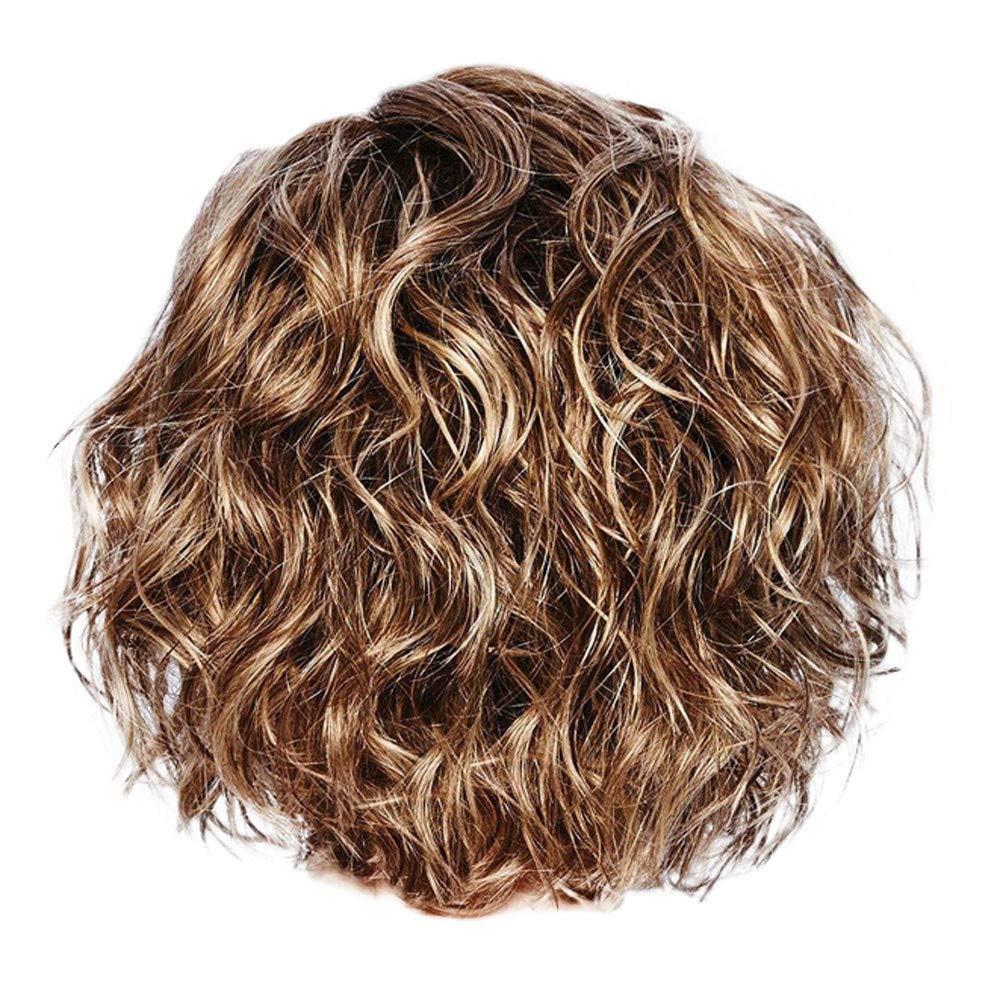 CIELLTE Perruque Blonde Brésilien Frisé Ondulé Court Perruque Fibre Haute Température Pastiche Cheveux Postiches Cheveux Artificiels CIELLTE DIY