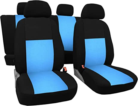 Universal Autositzbezüge für Hyundai i30 Blau Sitzbezug Autositz Schonbezüge Set