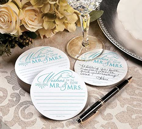 Advice for bride and groom coasters